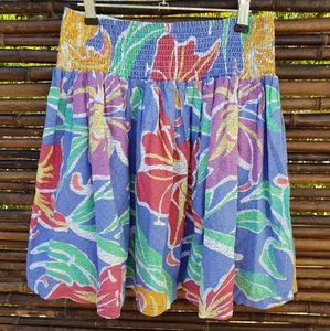 Miss Shop Colourful Cotton Skirt Size 14